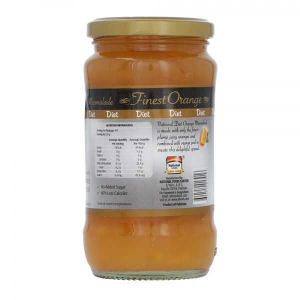 Diet Orange Marmalade 370g Jar