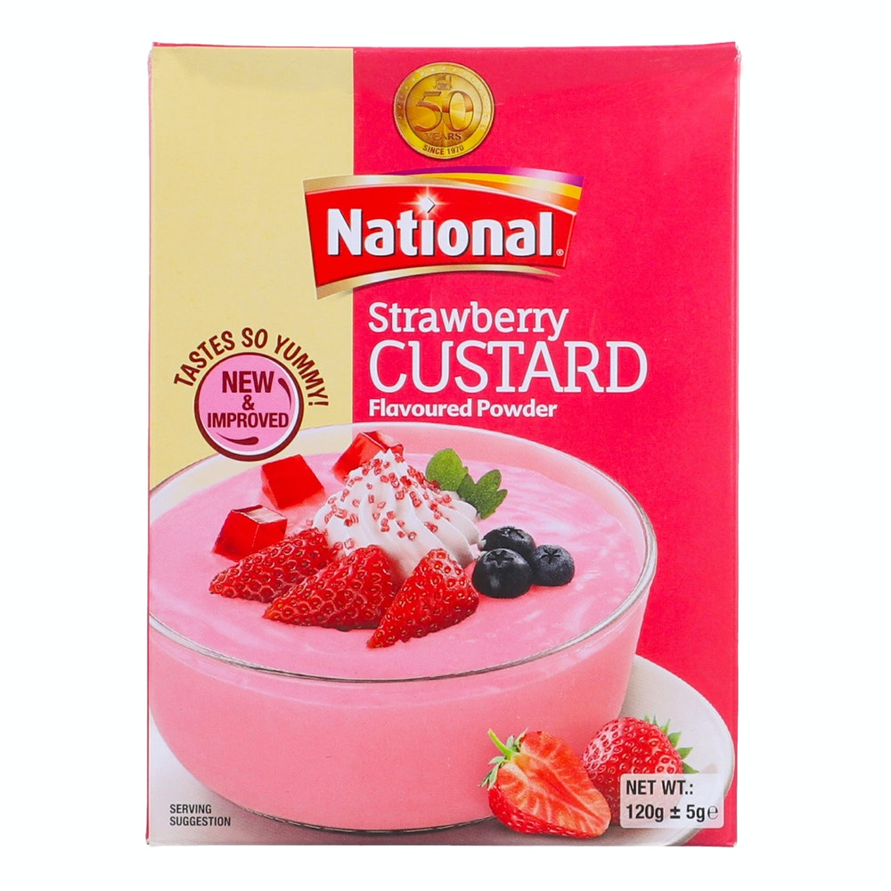 National Strawberry Custard 120g